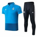 Camiseta Polo Real Madrid 19-20 Bleu